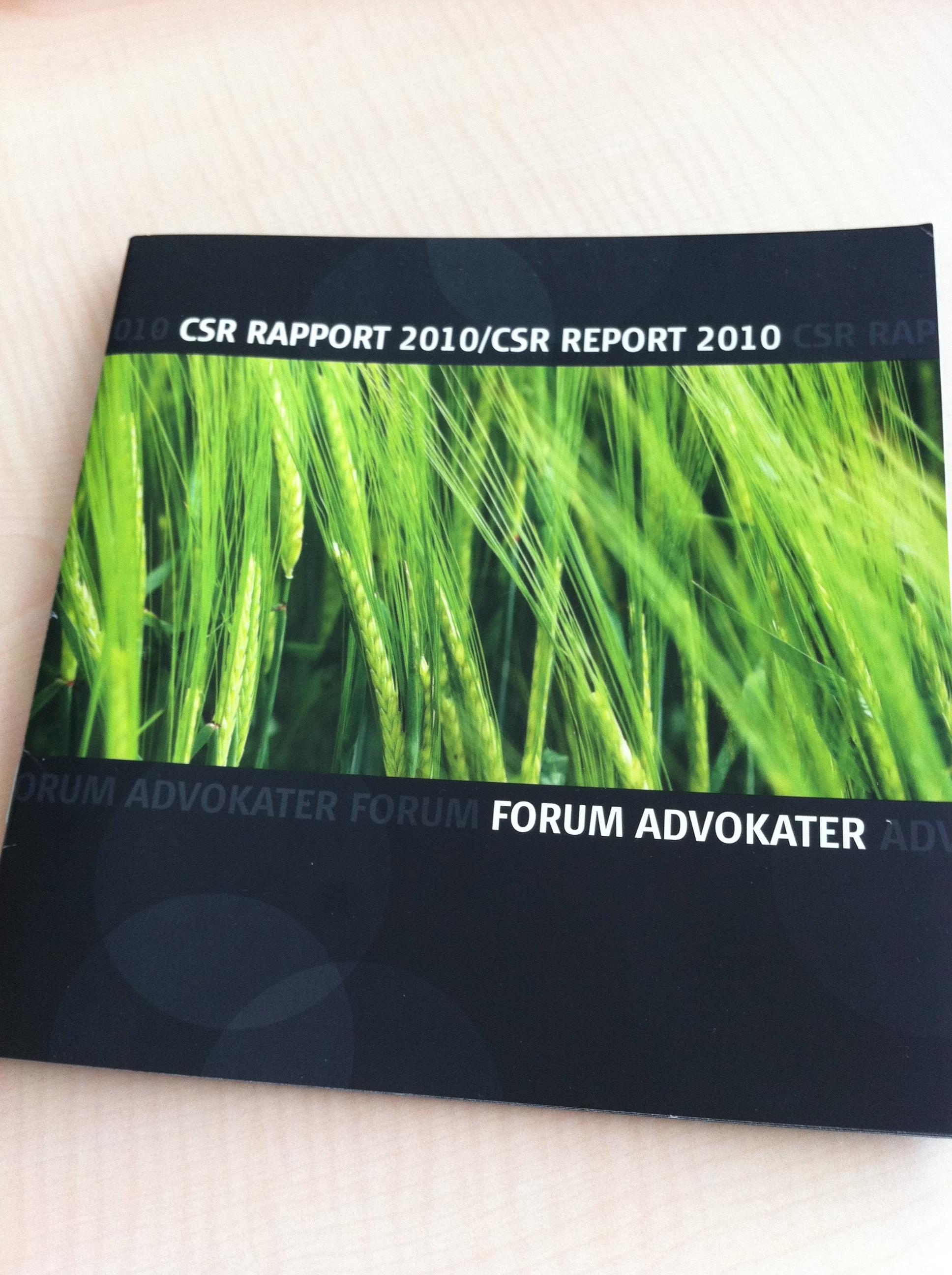 Ja tak til CSR (derfor har Forum Advokater en CSR-politik)