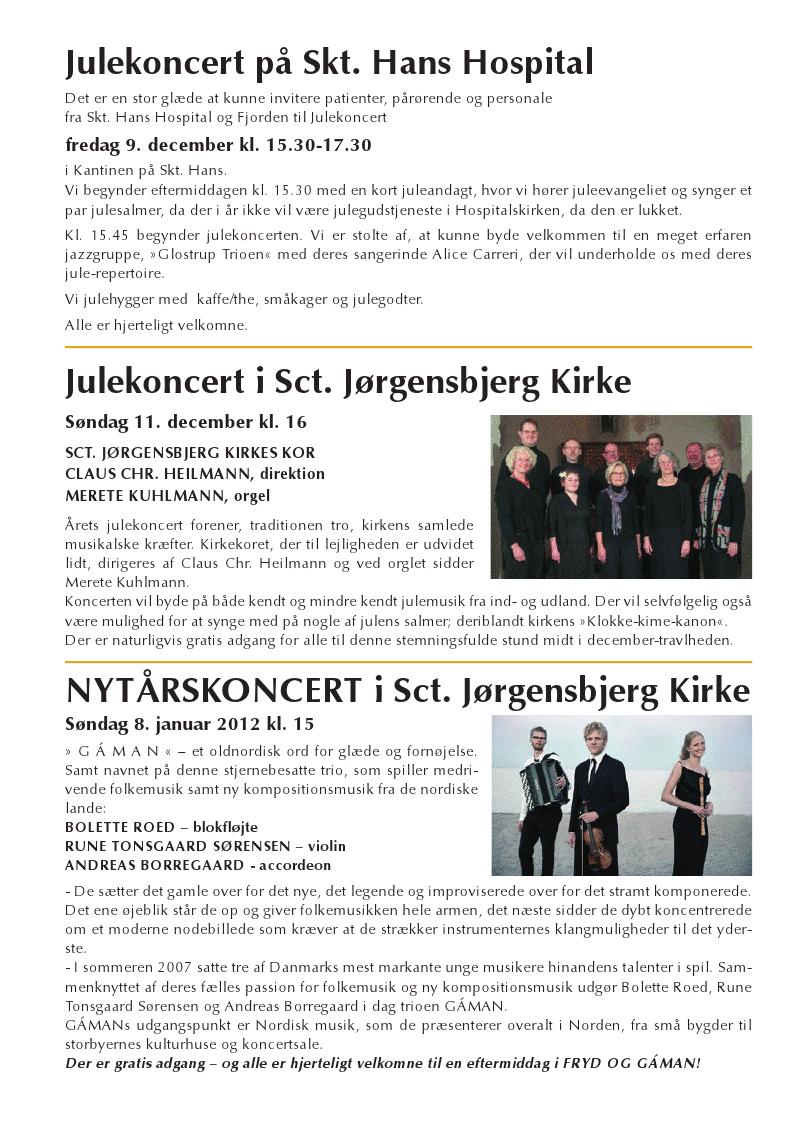NYTÅRSKONCERT i Sct. Jørgensbjerg Kirke – søndag 8. januar kl 15:00