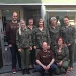Personalet foran forretningen i Karen Olsdatter Stræde 7