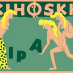 En af Kihoskhs egne øl. Bemærk den smukke etiket - forlægget skulle ifølge Keld være Chagall