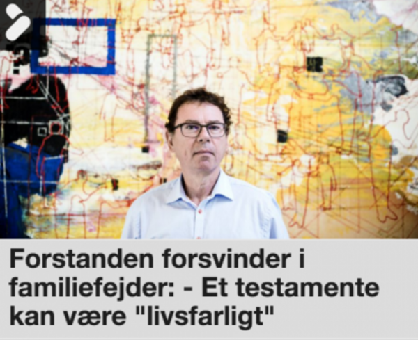 Danmarks mærkeligste testamente…